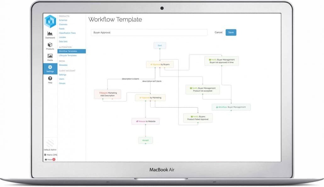 Workflow Screenshot from Pimberly app