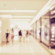 blur image of people shopping in department store