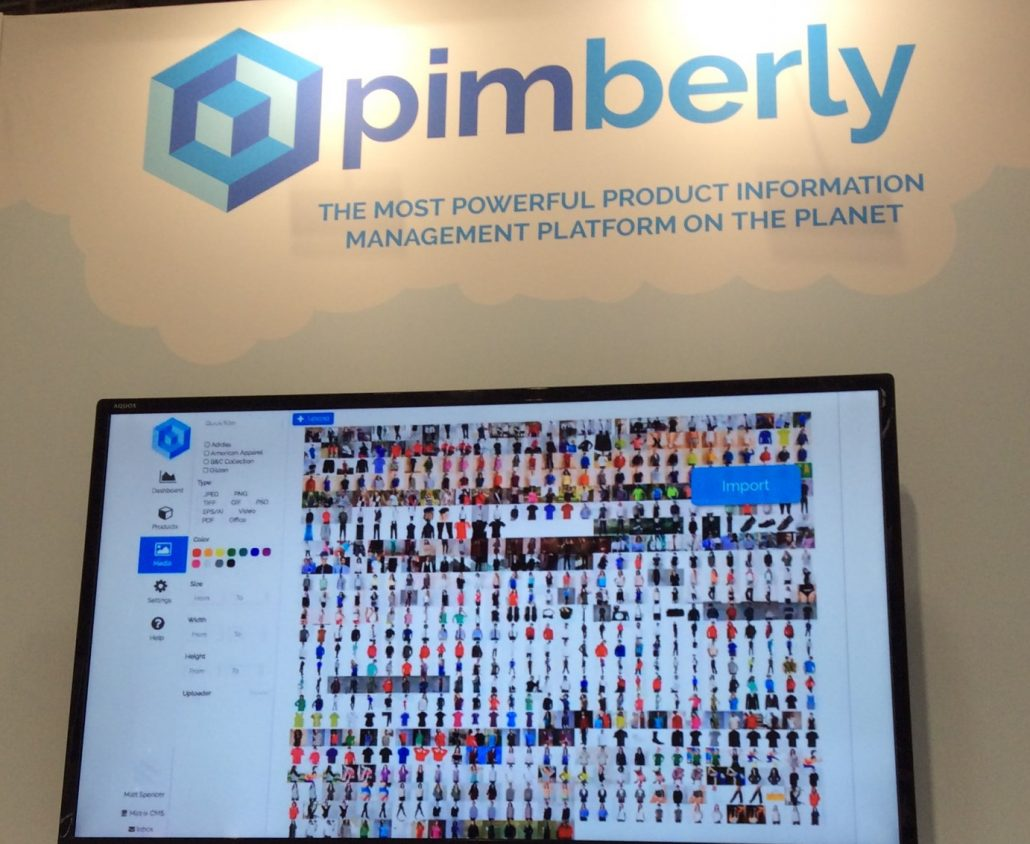 Pimberly PIM software display at Internet Retailing Expo 2018