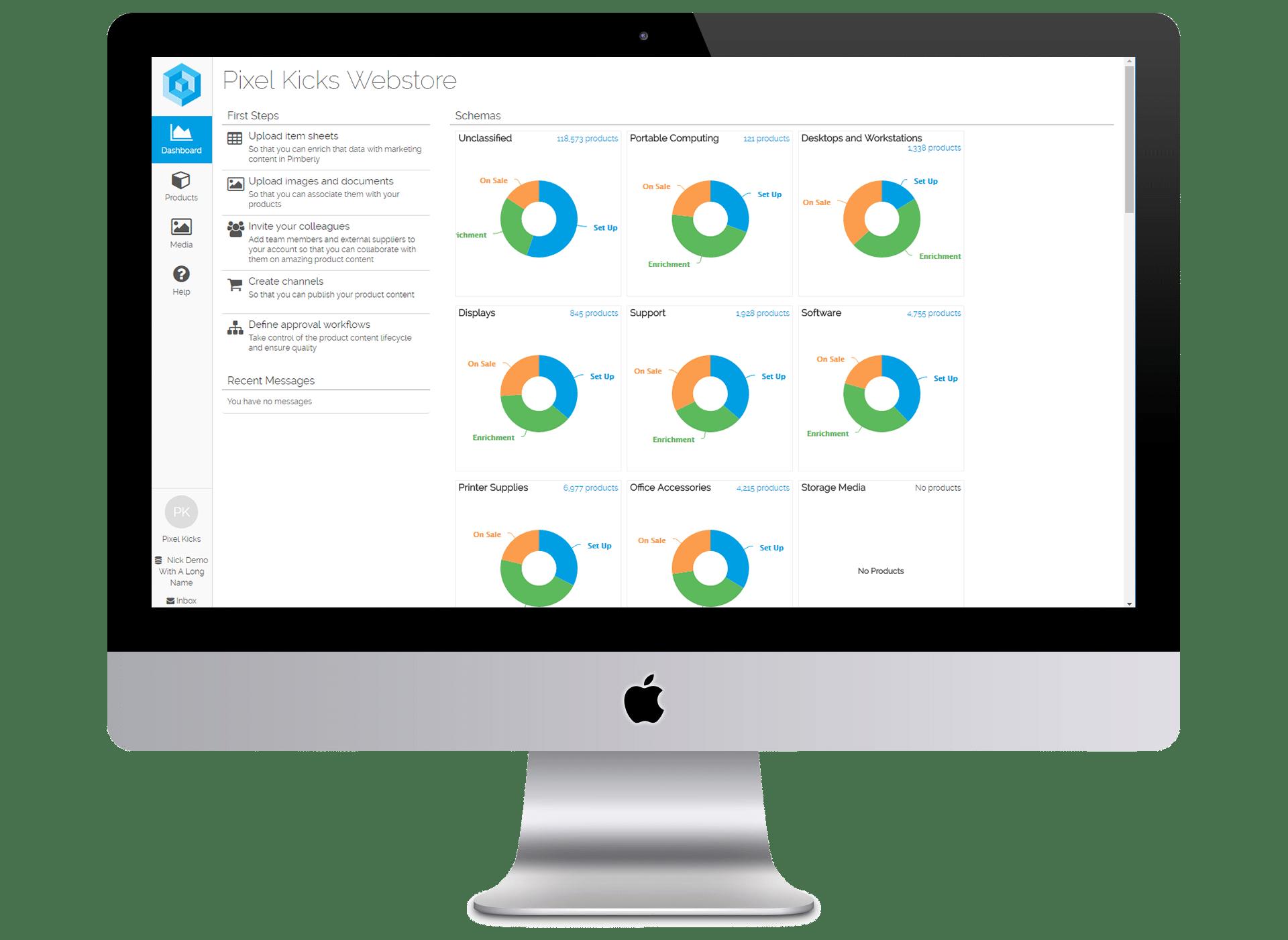 Pimberly PIM Product Schemas interface