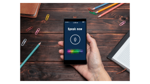 mobile phone using voice search