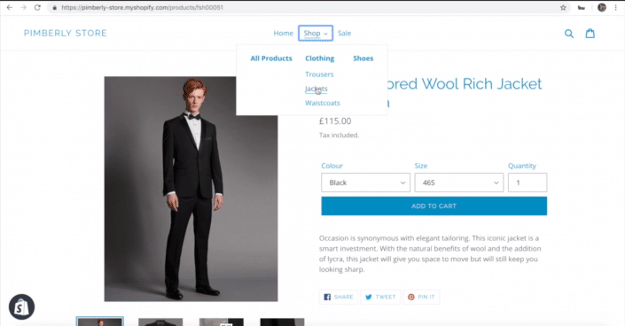 Screenshot Creating eCommerce Collections in Shopify with Pimberly