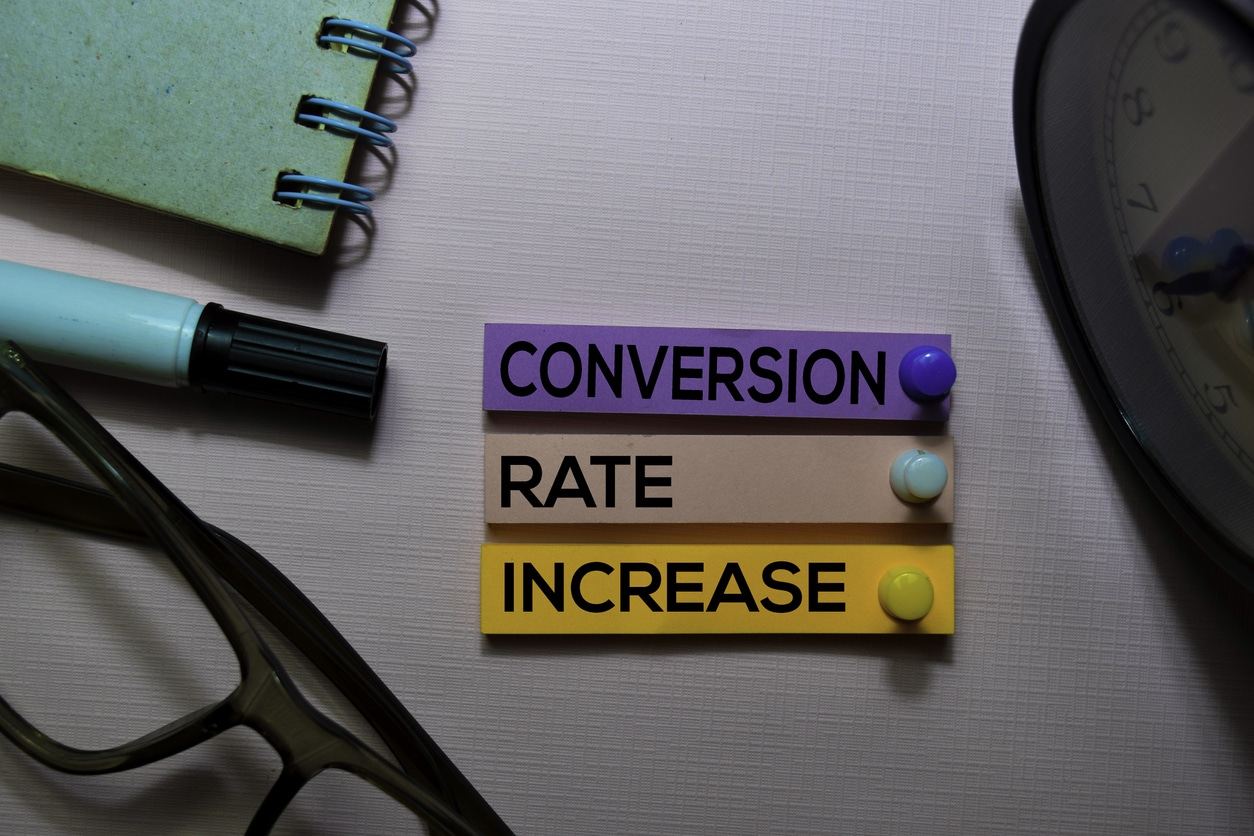 A conversation rate increase can be achieved through conversion rate optimisation (CRO).