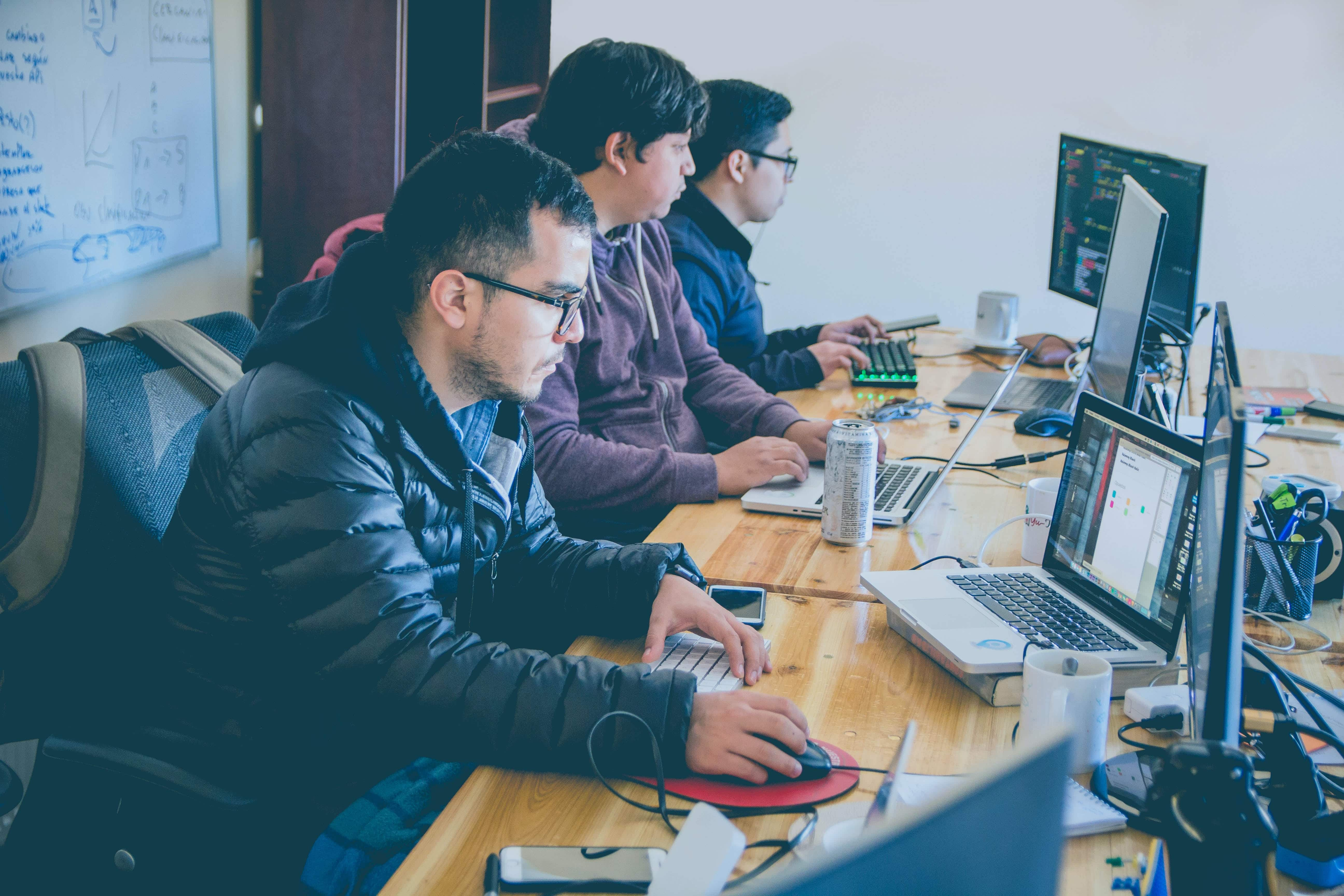 A team of in-house developers provides support for businesses that use SaaS technology.