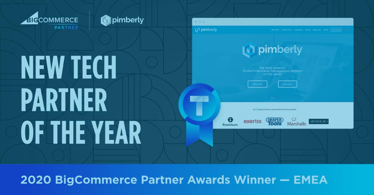 Pimberly BigCommerce New Tech Partner of the Year - 2020 BigCommerce Partner Awards Winner EMEA