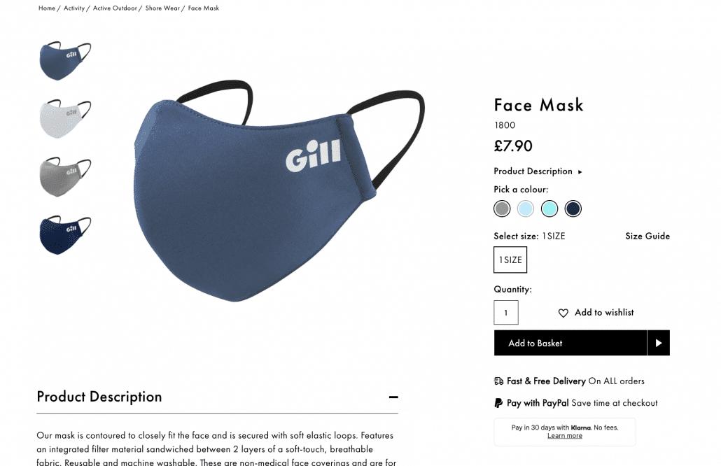 Gill Marine Fashion Products PIM