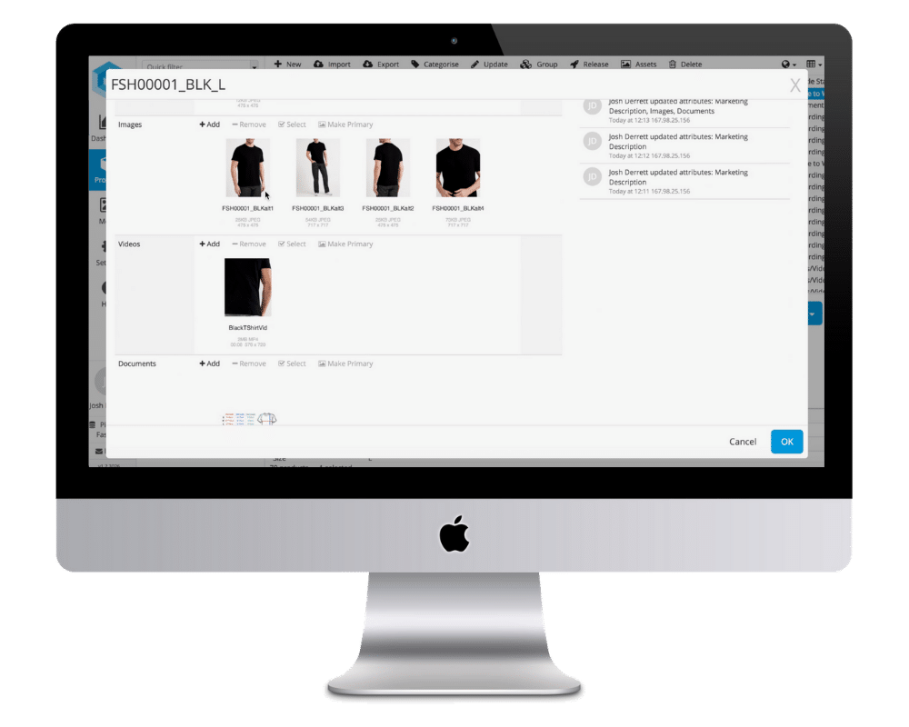 Pimberly Screen Product Information View, Fashion Products