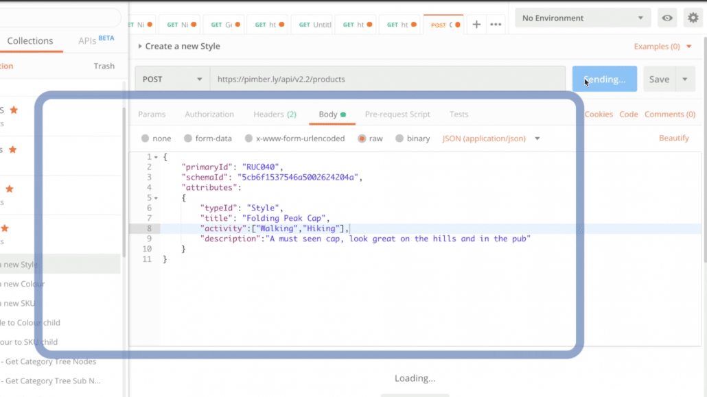 Pimberly Features _ Creating Products via API