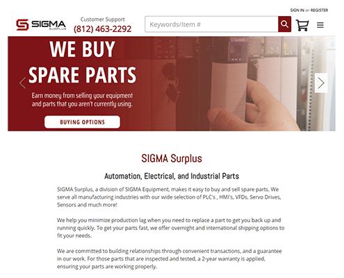 Sigma Surplus Website Screenshot